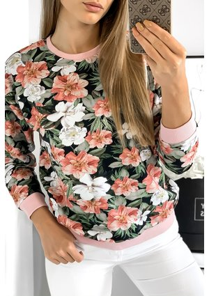 Bluza print powder flowers mama