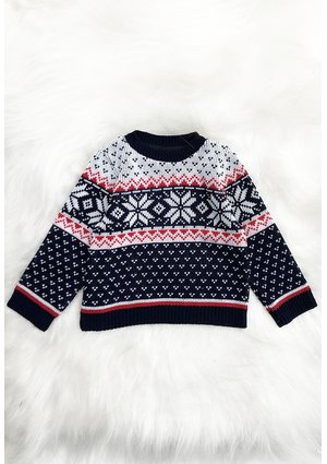 Sweater navy deer