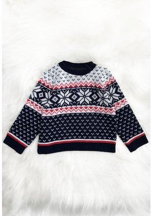 Sweter dziecięcy navy deer