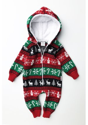 Sweterekowy onesie Winter Time Colors