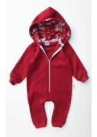 Onesie dziecięcy z bawełny Winter time Czerwony