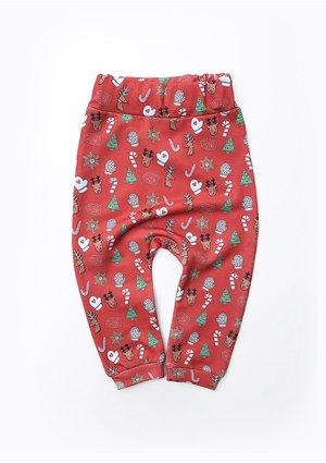 Spodnie dziecięce w świąteczny print