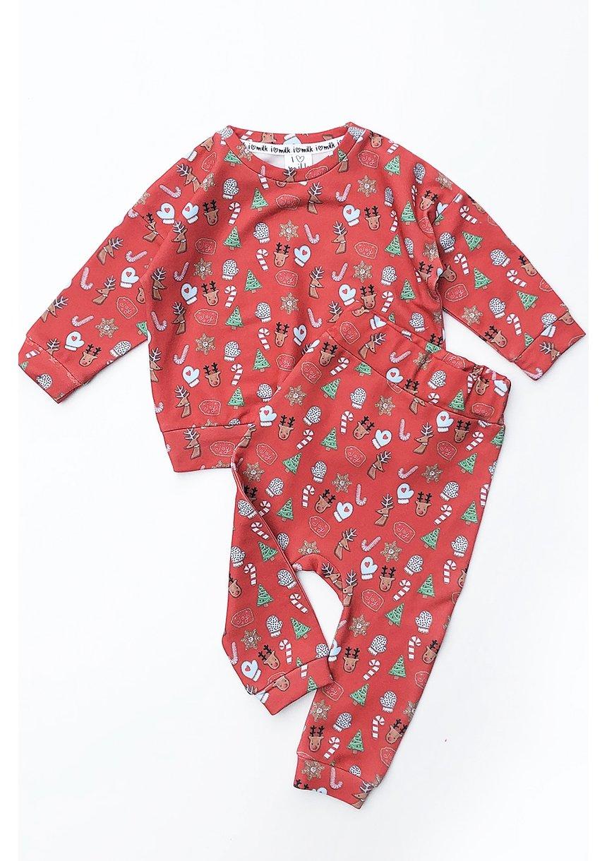Bluza dziecięca w świąteczny print