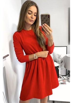 Sukienka z weluru mama Czerwona