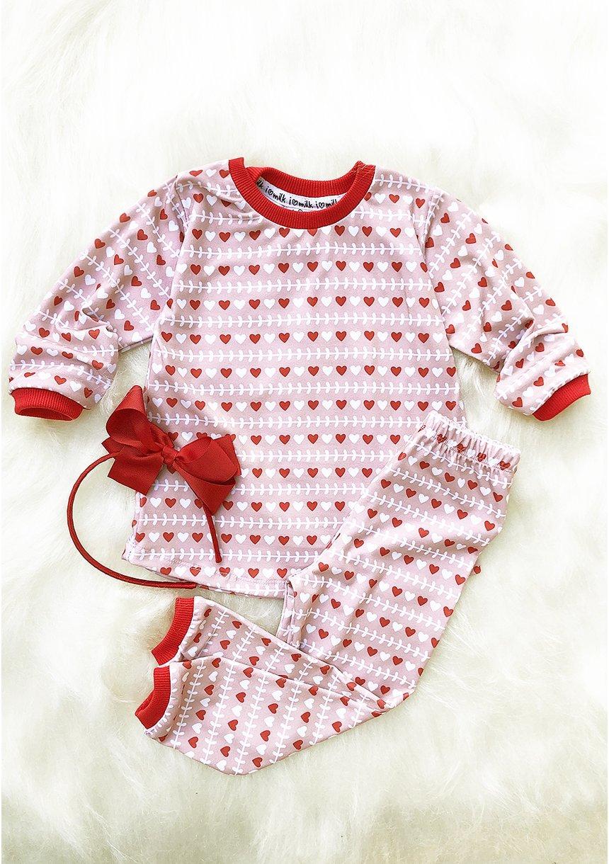 Piżama dziecięca Winter Hearts