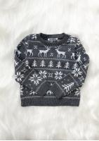 Sweter dziecięcy Winter time Szary