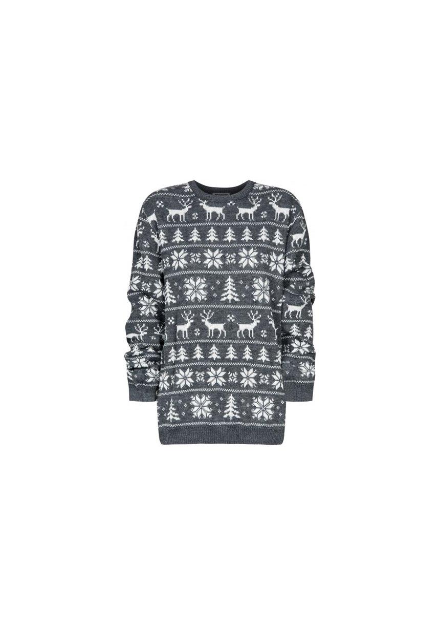 Sweter tata Winter time Szary