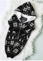 Sweterkowy onesie Winter time Czarny
