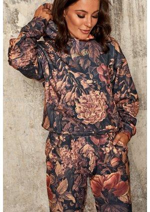 Bluza z kieszenią i kapturem w kwiaty Miodowa mama