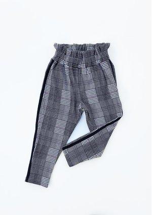 Spodnie z wysokim stanem w kratę