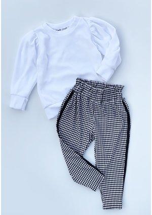 Spodnie z wysokim stanem w kratkę Vichy