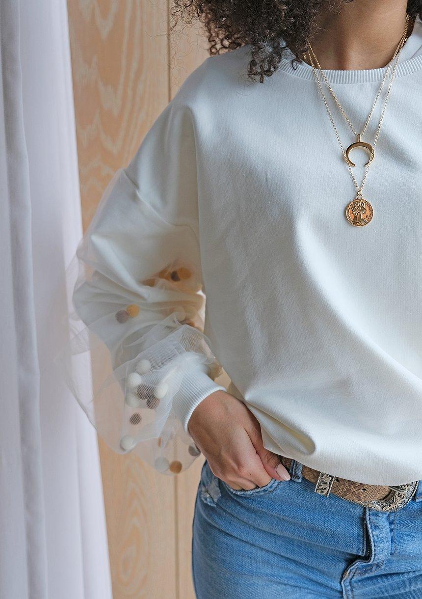 Bluza mama Pom Pom Kremowa