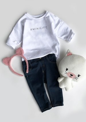 """Bluza dziecięca """" hasztag minilife"""""""