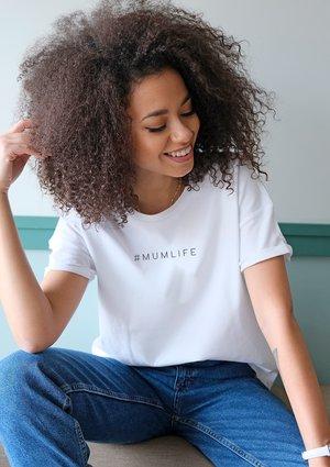 """T-shirt """" hasztag mumlife"""" mama"""