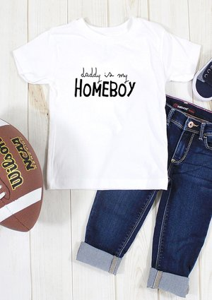 "T-shirt dziecięcy "" daddys is my homeboy"""