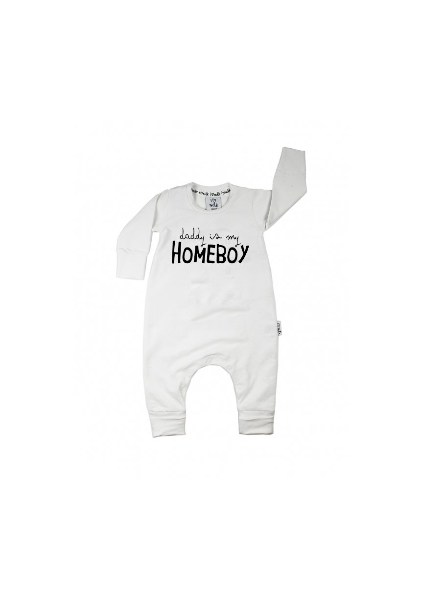 "Romper dziecięcy "" daddy is my homeboy"""