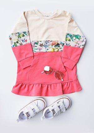Sukienka dziecięca ze wstawką Flower