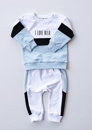 Bluza dziecięca ze wstawką pastel Błękitna