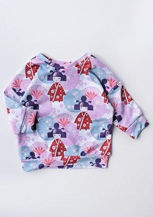 Bluza dziewczęca Japan spring print