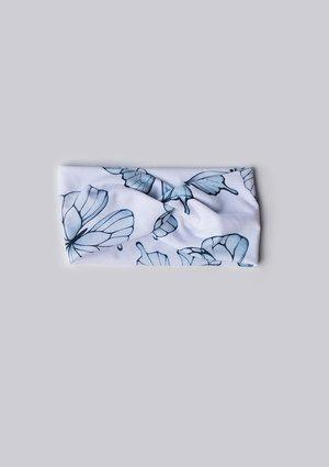Opaska dziewczęca Butterfly print Błękit
