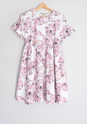Sukienka damska Butterfly print Różowa