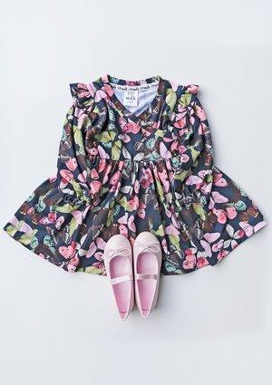 Sukienka dziewczęca butterfly colors