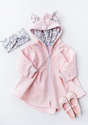 Płaszczyk dziewczęcy z bawełny Pink