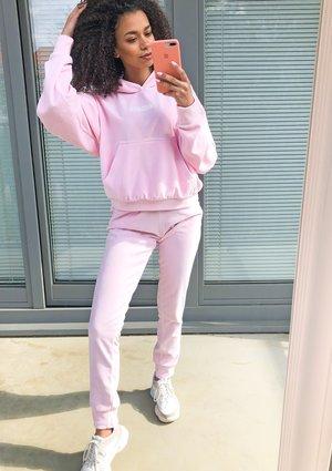 Damskie welurowe spodnie w kolorze Pink ILM