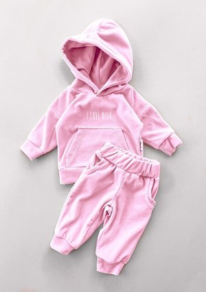 Welurowe dziecięce spodnie w kolorze Pink