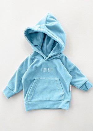Welurowa dziecięca bluza w kolorze Błękitnym