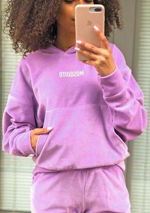Dasmka welurowa bluza w kolorze Lila ILM