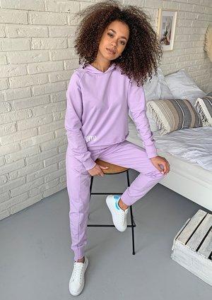 Spodnie damskie bawełniane pastel Lila ILM