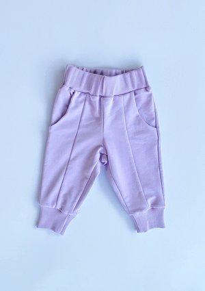 Spodnie dziecięce bawełniane Pastel Lila