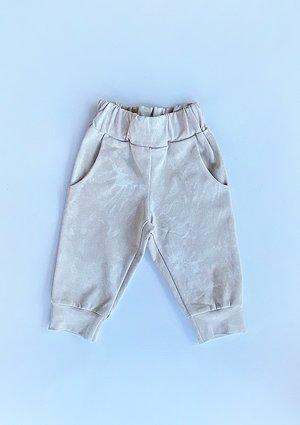 Spodnie dziecięce z efektem sprania Beżowe