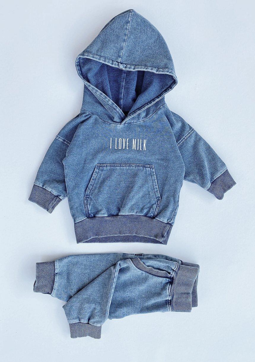 Spodnie dziecięce z bawełny denim