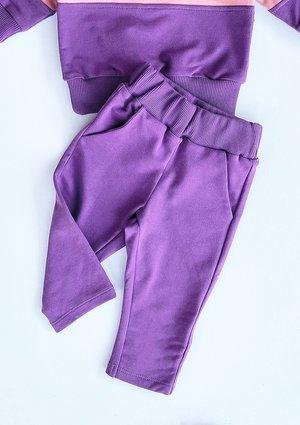 Klasyczne spodnie dziecięce fioletowe