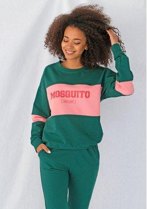 Bluza damska ze wstawką red logo Zielona ILM