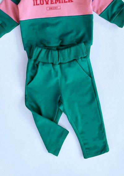 Dziecięce klasyczne spodnie dresowe Zielone