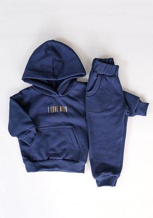 Bluza dziecięca z kieszenią i kapturem Monaco Navy