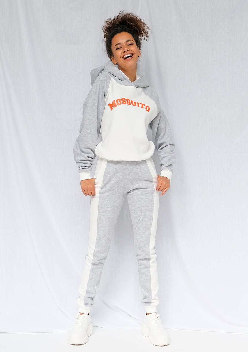 Bluza z kapturem damska Orange logo szara