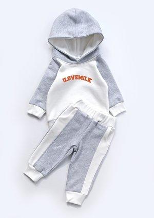 Spodnie dresowe dziecięce ze wstawka szare