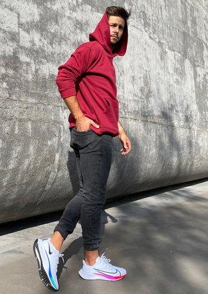 Bluza kangurka unisex ILM biking red