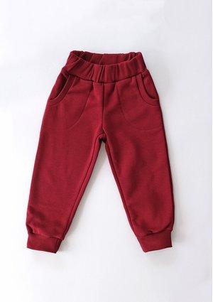 Dresowe spodnie dziecięce Biking Red