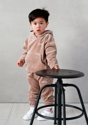 Kids velvet sweatpants Coffe