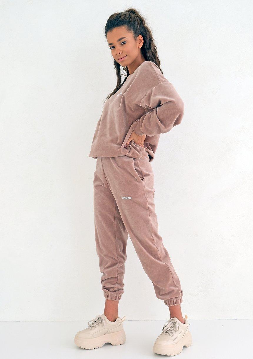 Velvet Women Sweatpants Coffe