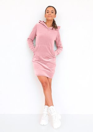 Velvet pastel women dress Mellow Rose