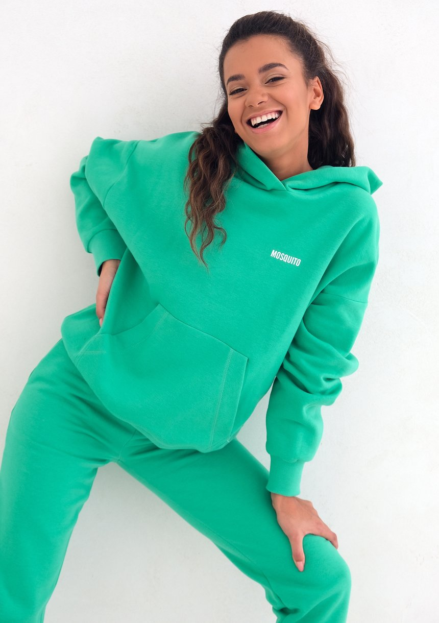 Mum Hoodie Lush Green
