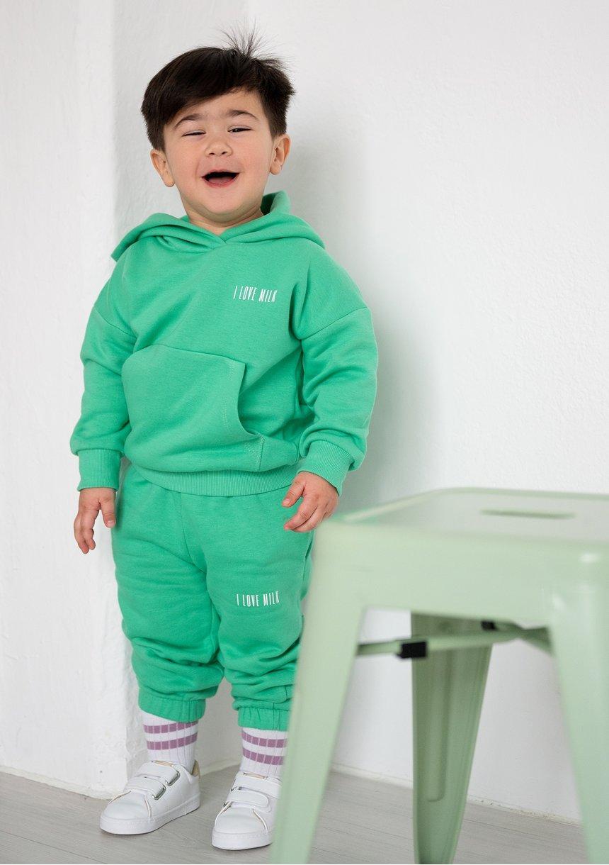 Dziecięca bluza  z kapturem Bush Green