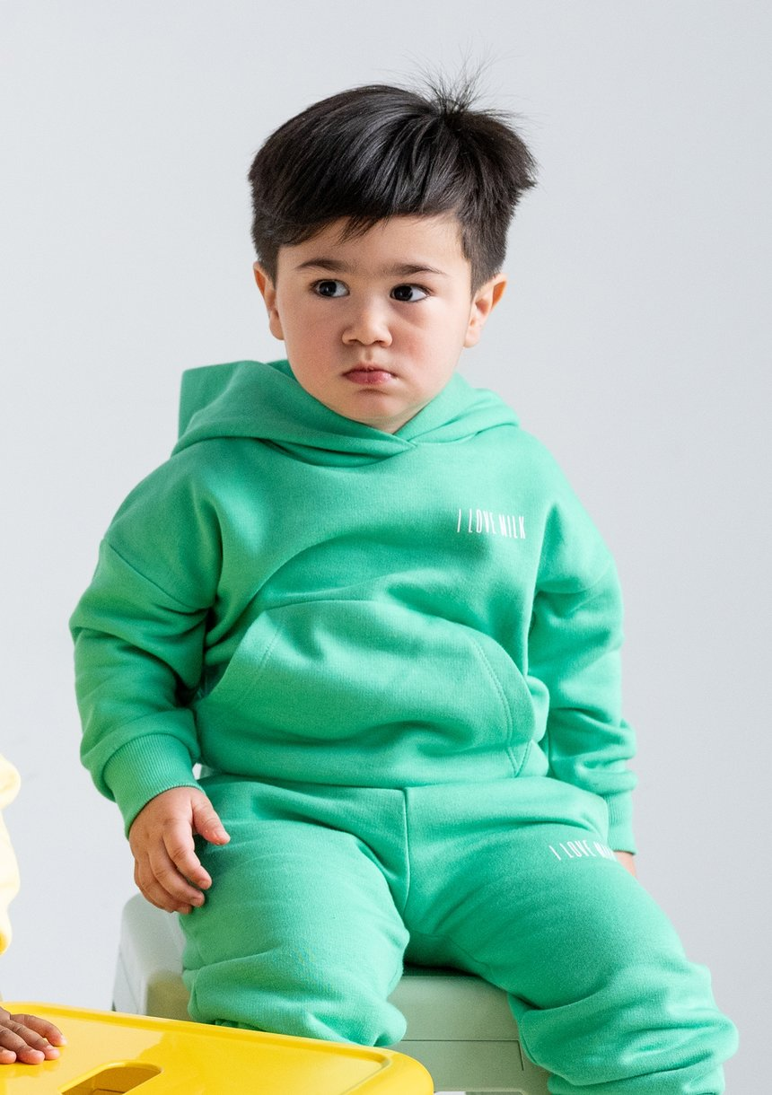 Kids Hoodie Lush Green