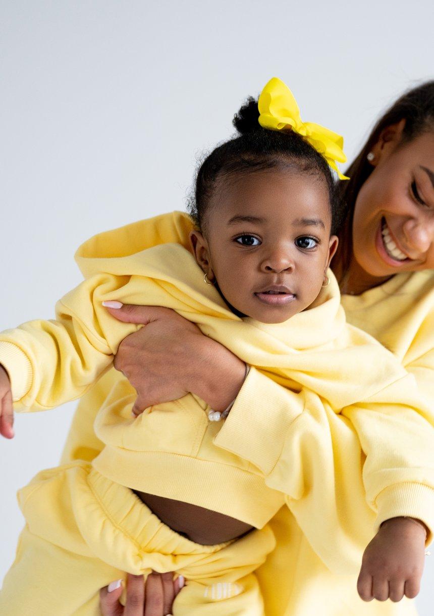 Kids Hoodie Sour Yellow